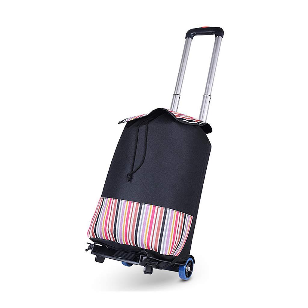 ポータブル折りたたみフラットベッドハンドトラック、軽量アルミハンドトロリー (色 : Cart+bag) B07QK88G88 Cart+bag