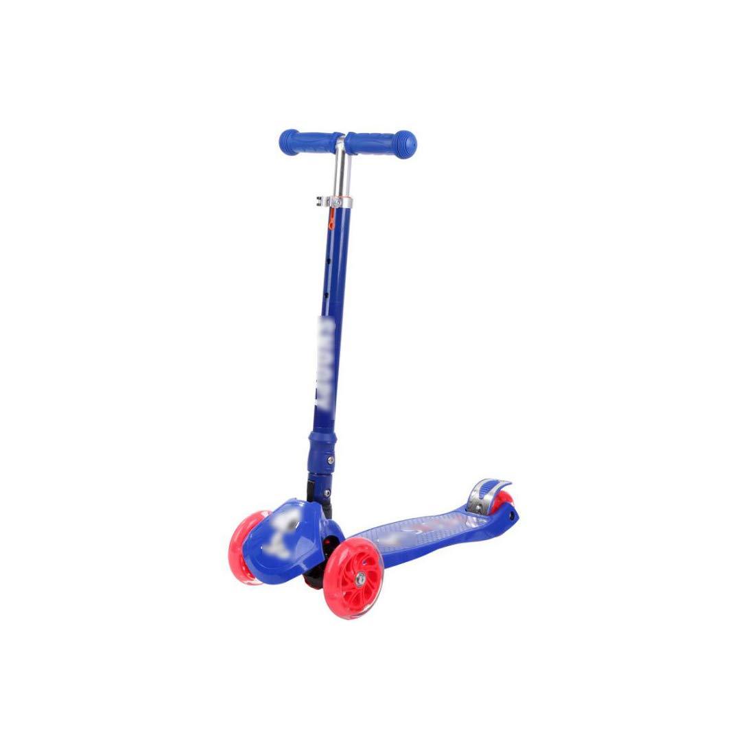 KTYXGKL Scooter per Bambini A Quattro Ruote Scooter A Forma di Rana Yo-Yo Altalena, 57x23x86cm Scooter per Bambini (colore   Blu)