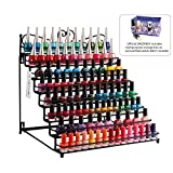 Dazone Mounted 8 Tier Metal Shelf Nail Polish Wall Rack Essential Oils Perfume Table Top Organizer Display Stand