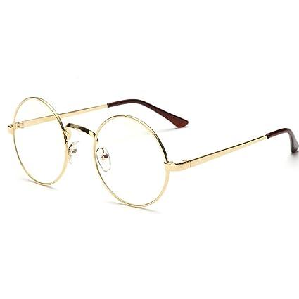 997354ec3ba Peiosendor Retro Round Metal Frames Vintage Clear Lens Glass Spectacles  Casual Classic Oversize Eyewear Optical Circle