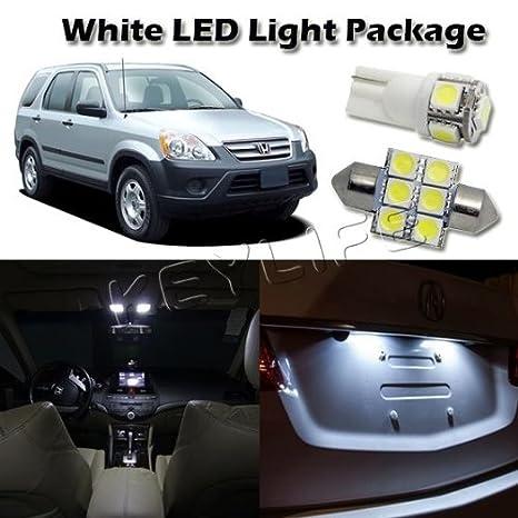 6 luz blanca Bombilla Paquete para 1997 - 2012 Honda CR-V tronco de la matrícula en de cúpula de mapa: Amazon.es: Iluminación