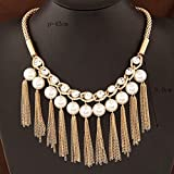 304# - 2 New Arrival Women Jewelry Pendant Choker Chunky Statement Chain Bib Necklace