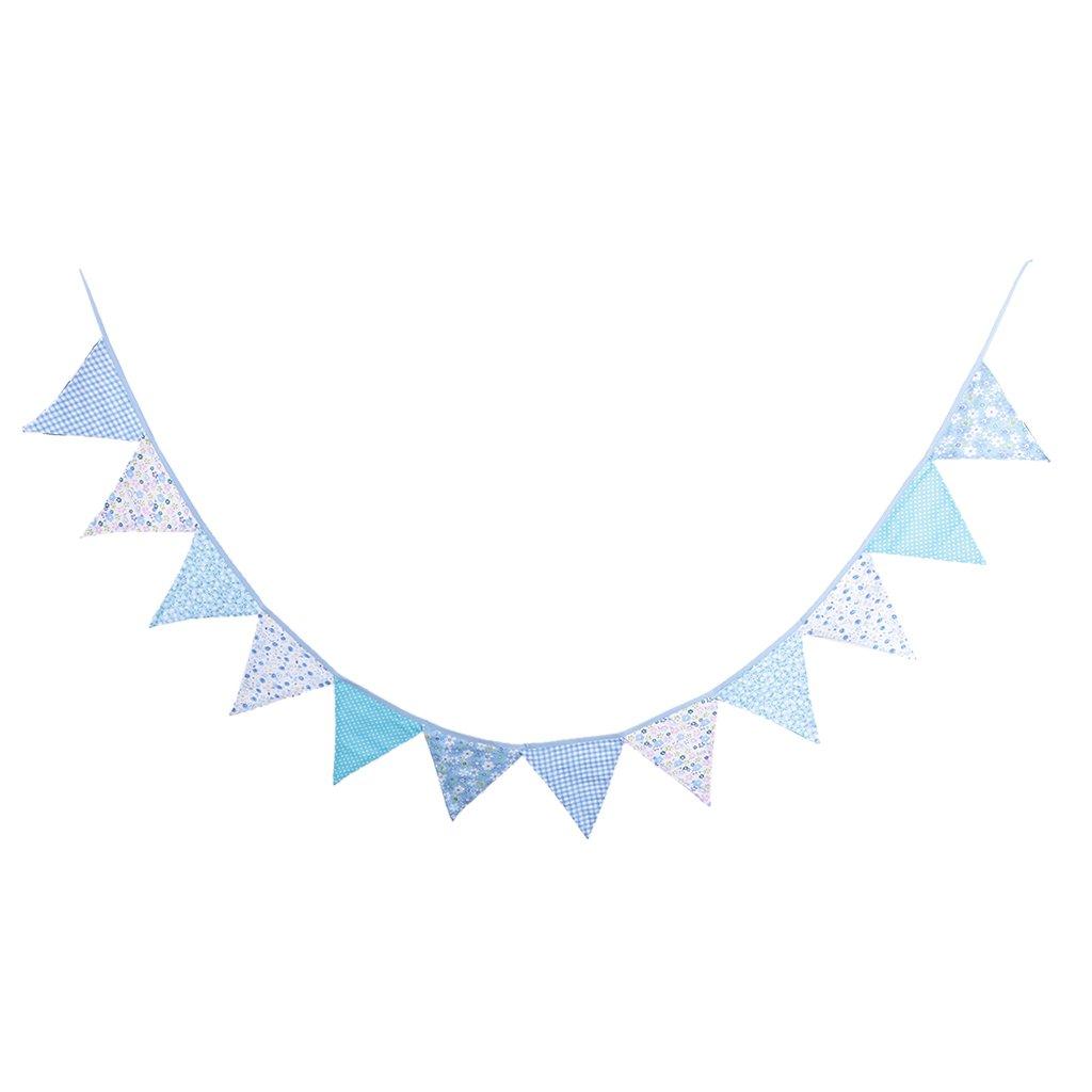 Gazechimp 3m Baumwolle Dreieck Wimpelkette Flagge , Wimpel Girlande für Weihnachten Hochzeit Geburtstag Haus Dekor - F