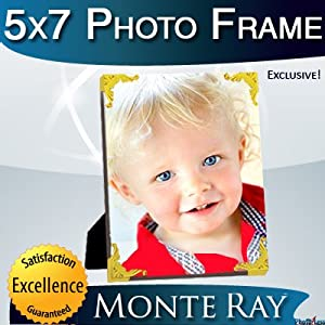 "Monte Ray 5x7"" Photo Frame With Gold Borders"