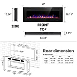 R.W.FLAME Electric Fireplace 50 inch Recessed and