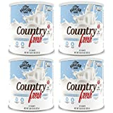 Augason Farms, Country Fresh 100% Real Instant Nonfat Dry Milk, 1lb 13oz (Pack of 4)