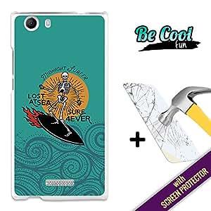 Becool® Fun- Funda Gel Flexible para Wiko Ridge FAB 4G [ +1 Protector Cristal Vidrio Templado ],Carcasa TPU fabricada con la mejor Silicona, protege y se adapta a la perfección a tu Smartphone, con nuestro exclusivo diseño. Surf para siempre