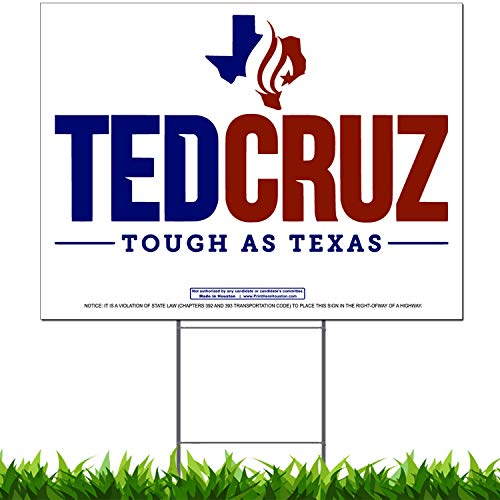 Vibe Ink Ted Cruz for Texas Senate Campaign Yard Sign (1 Pack) ()