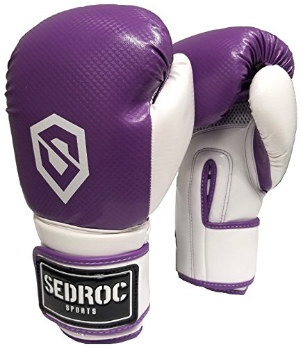 Sedroc Boxing Vortex Women's Fitness Cardio Class Training Gloves (14 oz, Purple)