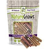Nature Gnaws Small Bully Stick Bites 2-3 inch (30 Pack) - 100% Natural Grass Fed Beef Dog Chews
