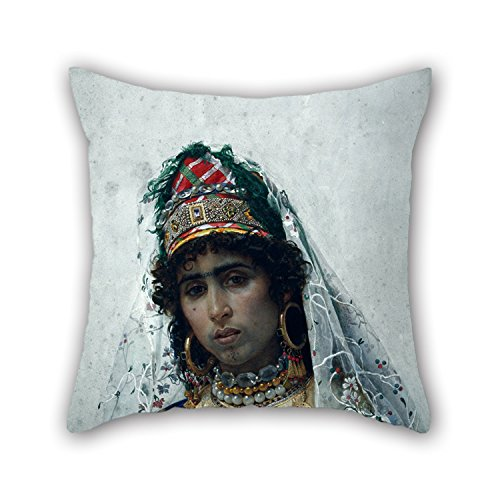 Artistdecor Pillow Shams Of Oil Painting Josep Tapiró - Berber Bride,for Outdoor,girls,drawing Room,car Seat,son,chair 16 X 16 Inches / 40 By 40 Cm(two Sides)