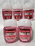Bath and Body Works 5 Pack Pocketbac Hand Sanitizers. Sweet as Strawberries. 1 Oz
