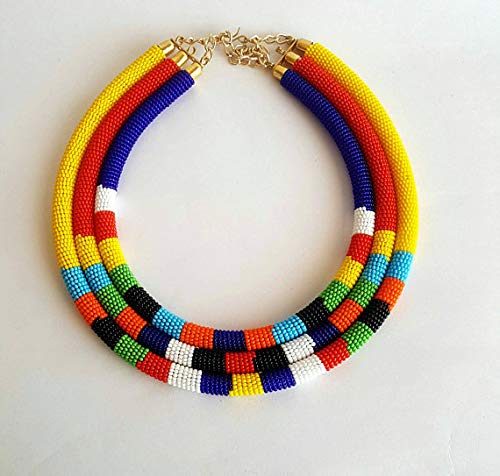 Used, African beaded necklace for women, Maasai beaded necklace for sale  Delivered anywhere in USA
