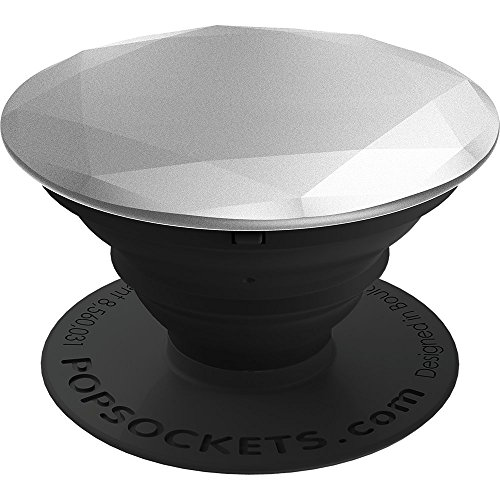 PopSockets: Collapsible Grip & Stand for Phones and Tablets - Silver Metallic Diamond