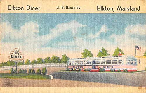 Elkton Maryland Elkton Diner Route 40 Roadside America Postcard AA1141