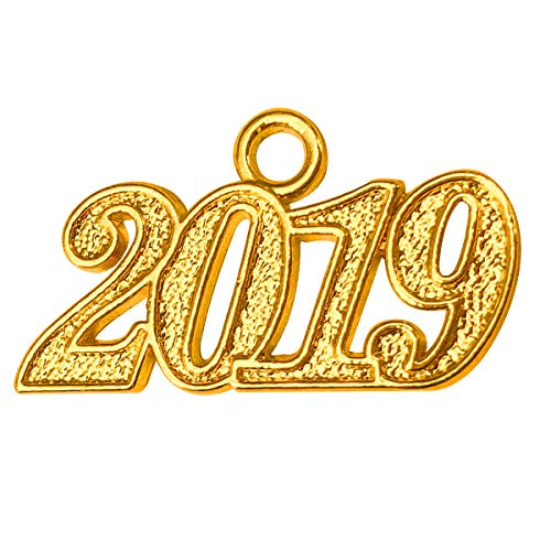 GraduationMall Alloy Gold 2019 Year Charm for Graduation ()