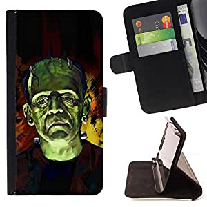Jordan Colourful Shop - green man monster superhero fairytale art For LG G3 - < Leather Case Absorci????n cubierta de la caja de alto impacto > -