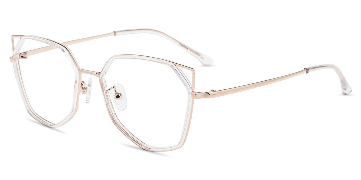 Firmoo Blue Light Blocking Glasses, Anti-eyestrain, Anti Glare Computer Eyeglasses, Fashion Cat Eye Glasses for Women/Men(Clear Frame)