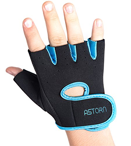 Astorn Workout Gloves for Cycling, Weightlifting & Crossfit Routines | Half-Finger Bike Gloves with High Friction Power Grip | Men