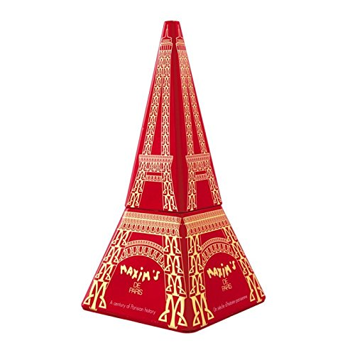 Maxim's Eiffel Tower Tin with Milk Chocolate Lace Crepes 70 g (Chocolate Gift Towers)