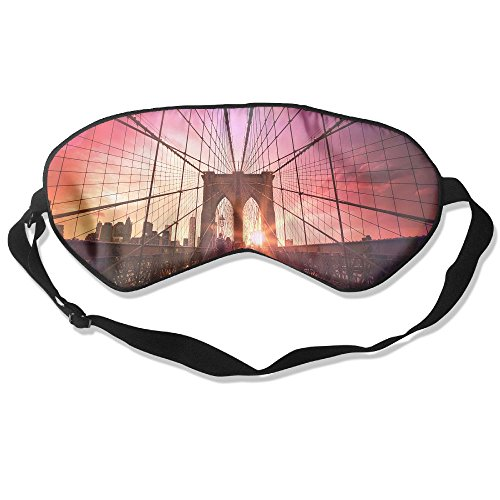 Comfortable Sleep Eyes Masks Brooklyn Bridge Images Love Pattern Sleeping Mask For Travelling, Night Noon Nap, Mediation Or Yoga (Brooklyn Light T-shirt)