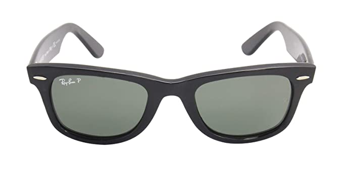 cf646e00b3 Image Unavailable. Image not available for. Color  Ray Ban RB2140 901 58  50mm Black Polarized Wayfarer Sunglasses ...