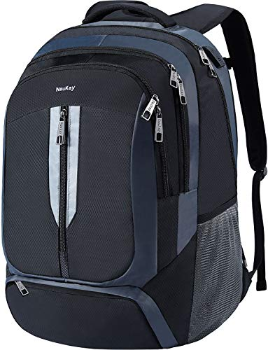 Travel Laptop Backpack,Extra Large Business Slim Durable Backpacks with USB Charging Port for Men Women,Water Resistant Anti Theft College School Computer Bookbag Fit 17 inch Laptop and Notebook,Black