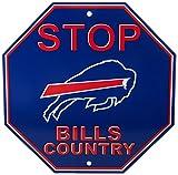 NFL Buffalo Bills Stop Sign, 12″ x 12