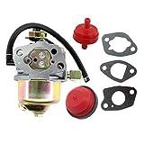 """AISEN Carburetor for Craftsman 26"""" Huayi 170S 170SA Snowblower Troy-Bilt 5024 208cc OHV Engine Fuel Filter Primer Bulb Gasket"""