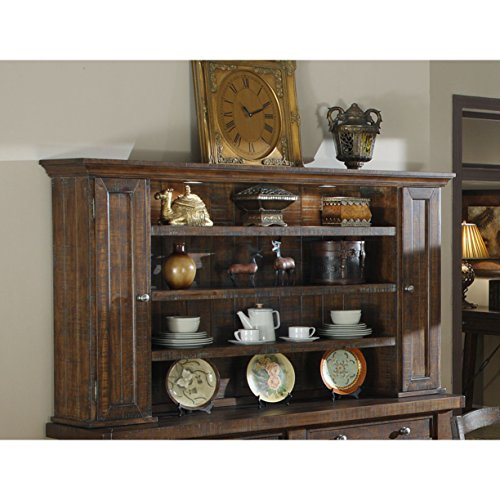 Emerald Home Castlegate Pine Brown Hutch with Open Shelving And Touch Lighting ()