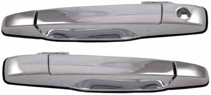 New Door Handles Set of 2 Rear Driver /& Passenger Side Chevy Yukon Chrome Pair