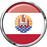 French Polynesia Glossy Flag Label Home Decal Vinyl Sticker 12'' X 12''