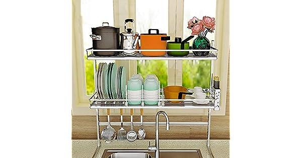 Amazon.com: WMR - Estantería de cocina/escurreplatos de ...