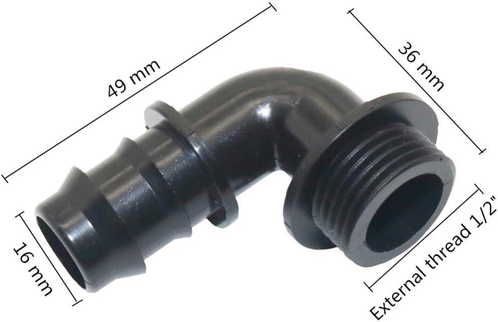 300 Series Barbs 200 1//4 Value Plastics Tee Reduce Connector White Nylon 1//4 1//8ID Tube 1//8ID Tube