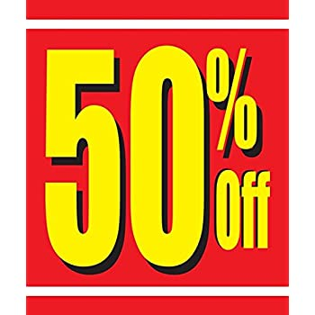 50 Off Store Business Retail Sale Display Signs 18x24 Full Color 5 Pack