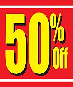 picture regarding Free Printable Sale Signs for Retail titled : 50% Off Retailer Enterprise Retail Sale Show