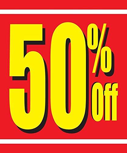 50 Off 18 Quot X24 Quot Store Business Retail Sale Promotion Signs