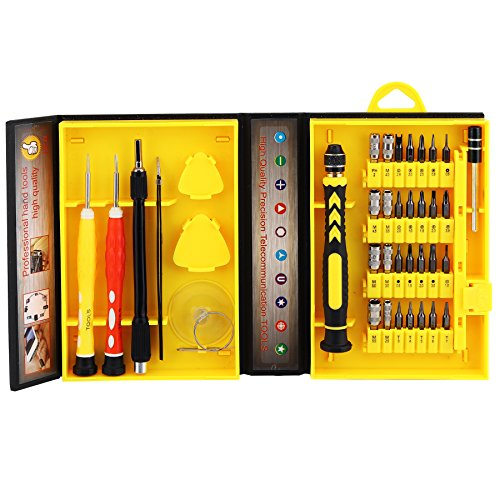 38 in 1 Hand Tools Kits With Organised Precision Screwdriver Bits Set For Home Toys,Games Machine,Cell Phone,Laptop and Other Telecommunication Devices by AFIXS