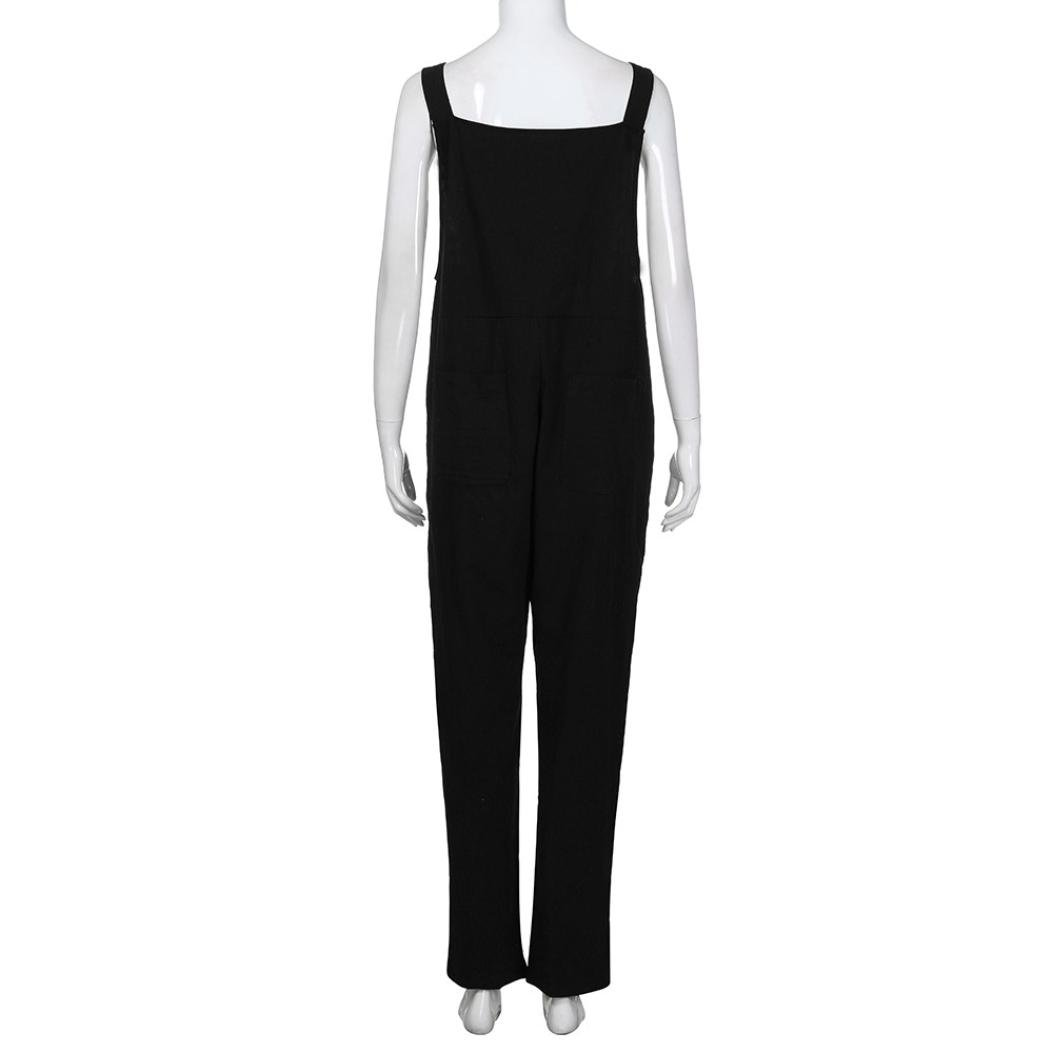 1332b7ae8297 Amazon.com  Women Large Plus Size Baggy Linen Overalls Casual Wide Leg  Pants Sleeveless Rompers Jumpsuit Vintage Haren Pants  Clothing