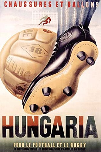 Buyenlarge 0-587-28486-2-C3248 ''Hungaria Soccer Shoes'' Gallery Wrapped Canvas Print, 32'' x 48'' by Buyenlarge
