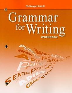 Amazon mcdougal littell literature grammar for writing mcdougal littell literature grammar for writing workbook grade 9 fandeluxe Choice Image