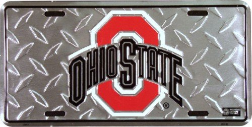 - Ohio State University Buckeyes Diamond Metal College License Plate Wall Sign Tag