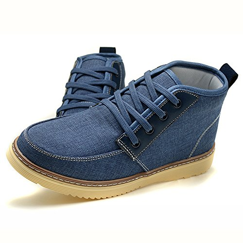 Men's Shoes Feifei Spring and Autumn Leisure High Help Cloth Shoes 4 Colors (Color : 02, Size : EU42/UK8.5/CN43)