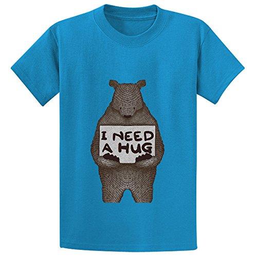 Theo Wine Tumbler (I Need A Hug Girls Crew Neck Customized T Shirt)