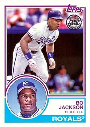 Amazoncom 2018 Topps 1983 Topps Design 83 89 Bo Jackson Baseball