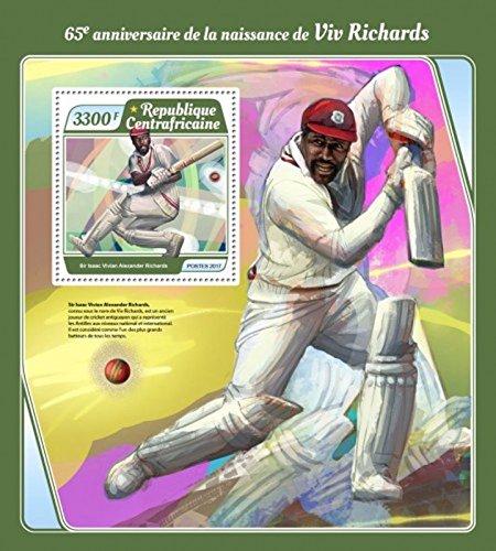 Central Africa - 2017 Viv Richards - Stamp Souvenir Sheet - CA17502b (Best Of Viv Richards)