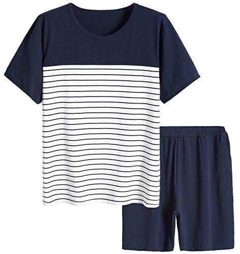 Cotton Striped Pajama Set - 7