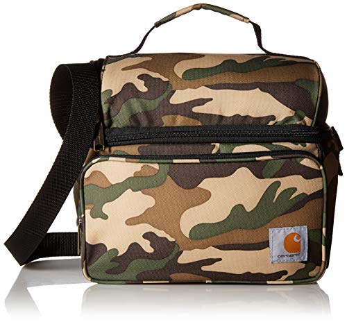 Camo Cooler Bag - Carhartt Deluxe Dual Compartment Insulated Lunch Cooler Bag, Camo