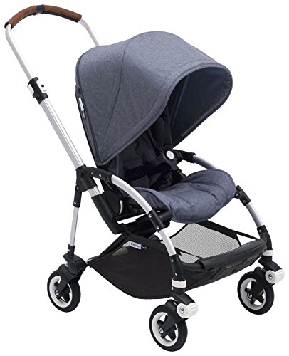 Bugaboo Bee5 Complete Stroller, Alu Blue M lange – Compact, Foldable Stroller for Travel and Urban Life. Easy to Steer on City Streets Tight Turns The Most Popular Lightweight Stroller