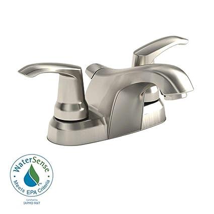 Montgomery 4 In 2 Handle Low Arc Bathroom Faucet In Satin Nickel